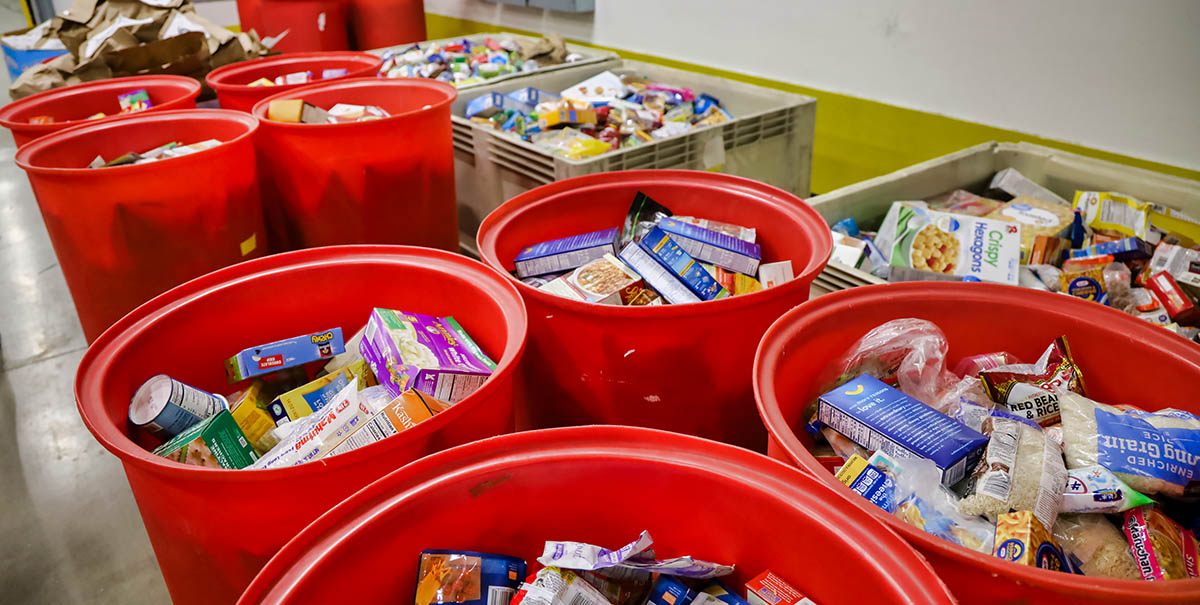 San Diego Food Bank Barrels