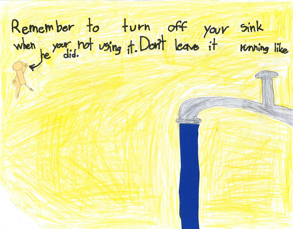 Miguel-Angel Gonzalez, Grade 2, Wolf Canyon Elementary School (third place; K-3 category)