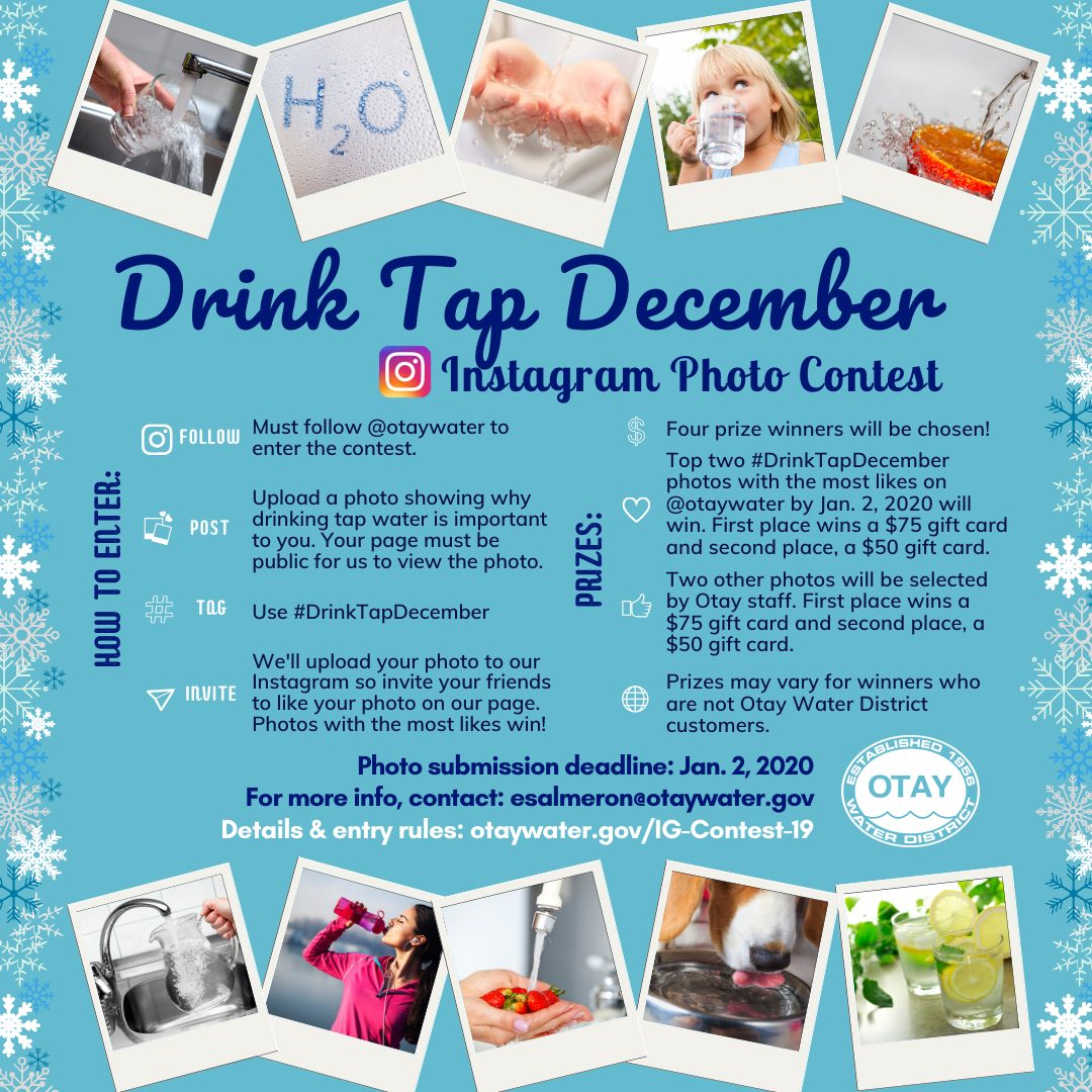 Drink Tap December Instagram Photo Contest flyer