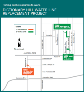 Dictionary Hill Water Line Replacement Project Vicinity Map
