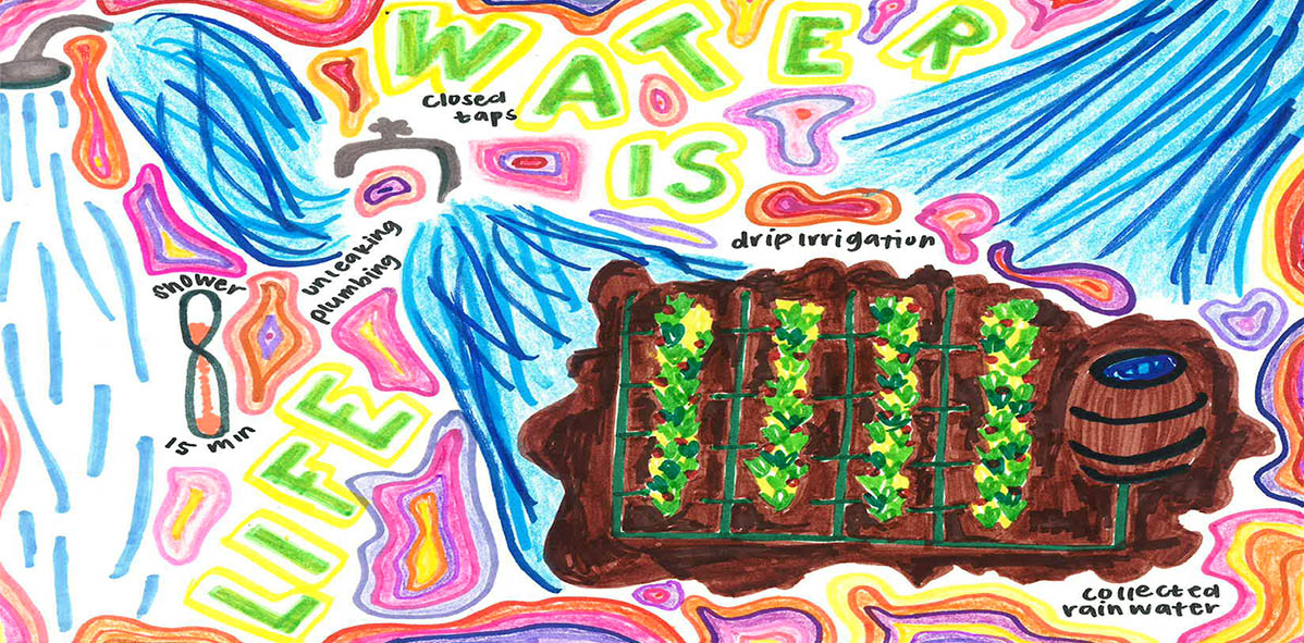 Student Contest Winners Illustrate the Importance of Water-Use Efficiency Through Art During a Time of Pandemic Struggle